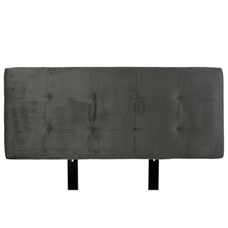 MJL Furniture Ali Button-tufted Ennis Pewter Upholstered Headboard