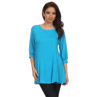 MOA Collection Women's Jersey Knit Tunic Top