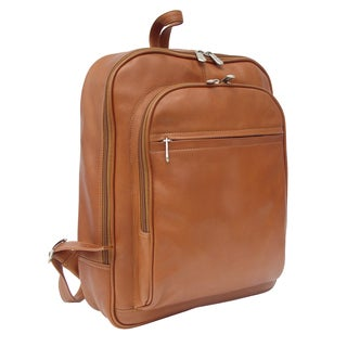 Piel Leather Front Pocket Leather Laptop Backpack