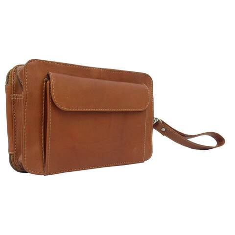Piel Leather 8-inch Organizer Wristlet Bag
