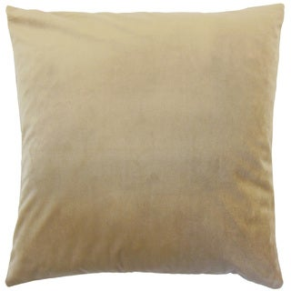 Nizar Solid Latte 18-inch Feather and Down Filled Throw Pillow