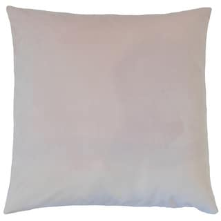 Nizar Solid Orchid 18-inch Feather and Down Filled Throw Pillow
