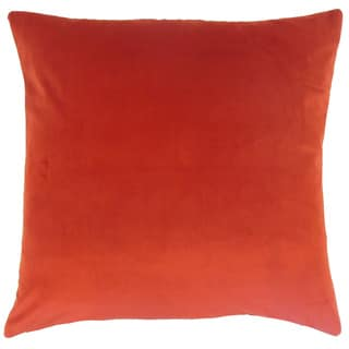 Nizar Solid Salsa 18-inch Feather and Down Filled Throw Pillow