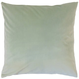 Nizar Solid Spa 18-inch Feather and Down Filled Throw Pillow