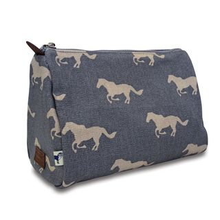 Sloane Ranger Grey Horse Cosmetic/Toiletry Pouch