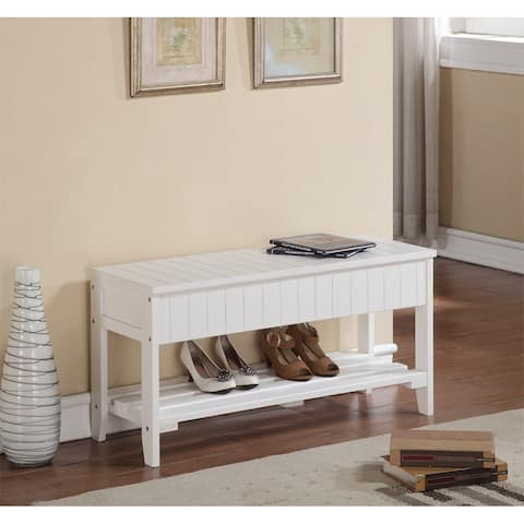 The Gray Barn Waggoner Solid Wood Shoe Bench with Storage