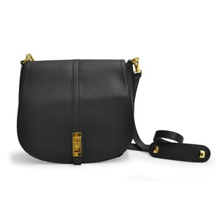 Adrienne Vittadini Vegan Leather Crossbody Saddle Bag
