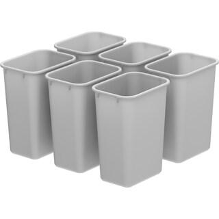 Storex Medium Waste Basket Black (6 units/pack) (Option: Grey)