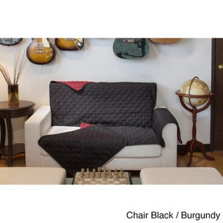 Perfect Fitting Diamond Quilted Reversible Chair Cover