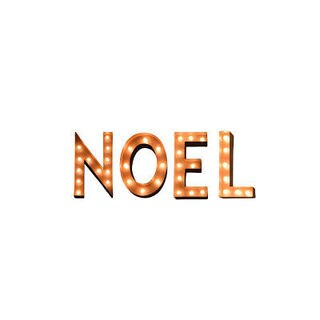 Indoor/ Outdoor Commercial Grade Rusted Steel Holiday Typography 'Noel' Profession/Commercial MarqueeLights