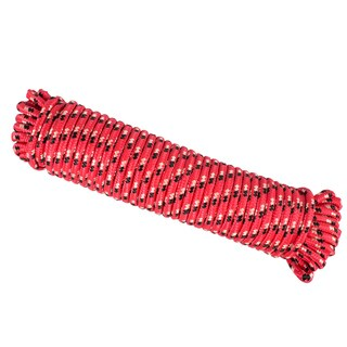 Wasons 3/8 in x 100 ft Diamond Braid Polypropylene Rope -Red Multicolor