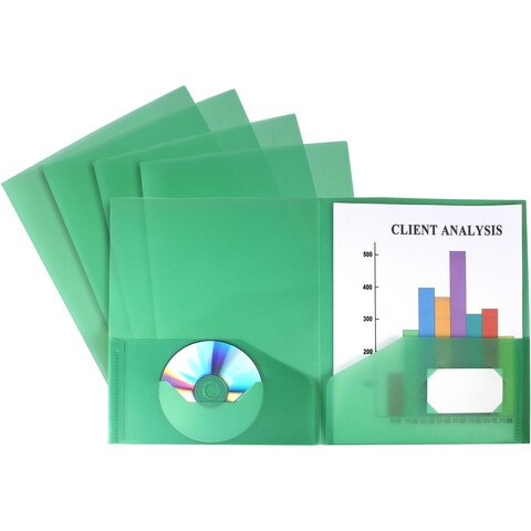 Thicker Poly Two-pocket folder by Storex