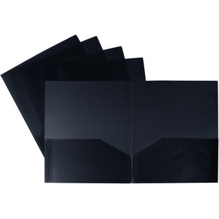 Storex Thicker Poly Two-pocket Folder