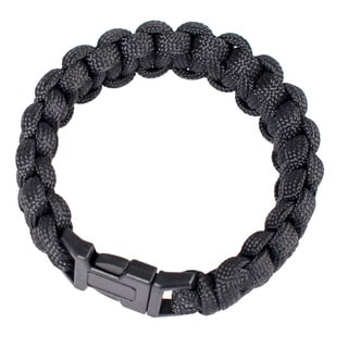 Wasons 9-inch Black Survival Paracord Bracelet