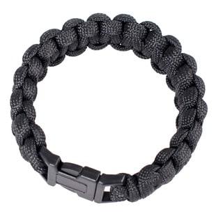 Wasons 9-inch Black Survival Paracord Bracelet