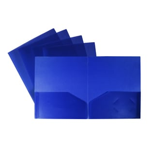 Storex Poly Two-pocket folder (Case of 25)
