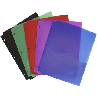 Storex Tear-Resistant 2-Pocket Folder with Holes