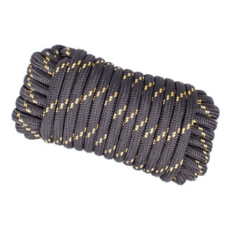 Wasons 1/2 in x 50 ft Diamond Braid Polypropylene Rope -Black Multicolor