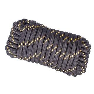 Wasons 1/2 in x 50 ft Diamond Braid Polypropylene Rope -Black Multicolor