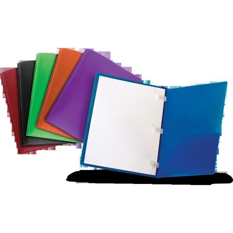 Storex Thicker Poly 2 Pocket folder + Plastic Prongs