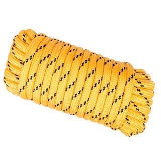 Wasons 1/2 in x 50 ft Diamond Braid Polypropylene Rope -Yellow Multicolor