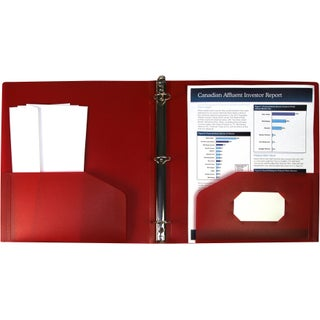 "Storex Poly Binder with Pockets/1""-Inch/ Multi Colors (Option: red (case of 24))"