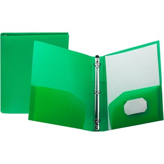 """Storex Poly Binder with Pockets/1""""-Inch/ Multi Colors (Option: green (case of 24))"""