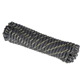Wasons 1/2 in x 100 ft Diamond Braid Polypropylene Rope -Black Multicolor