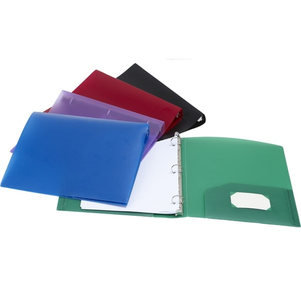 "Storex Poly Binder with Pockets /1.5""-Inch/Multi Colors"