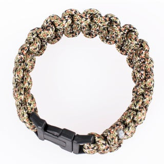 Wasons 9 in. Survival Paracord Bracelet -Camouflage