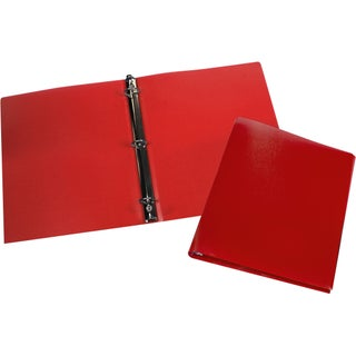 "Storex Poly Binder/1""-Inch/ Multi Color(12 units/pack) (Option: Red)"