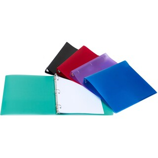 "Storex Poly Binder/ 0.5""-Inch/ Multi Color"