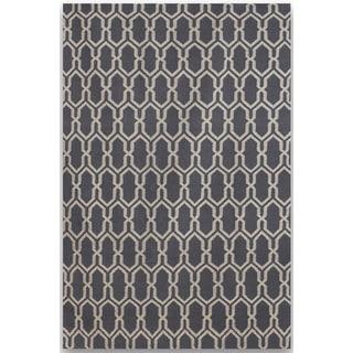 Sonora Dove Grey Flat-weave Rug (3' x 5')