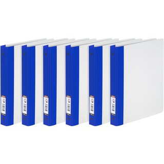 Thicker Poly Clear Binder 1-Inch (Option: blue spine (case of 6))