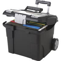 Storex Premium Portable File Box on wheels