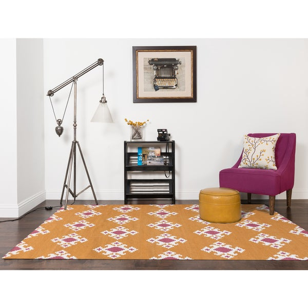 Sonora Orange Flat-weave Rug (3' x 5') - 3' x 5'