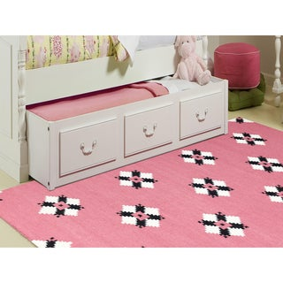 Sonora Pink Flat-weave Rug (3' x 5')