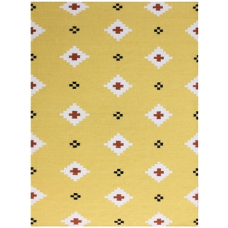 Sonora Yellow Flat-weave Rug (3' x 5')
