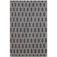 Sonora Dove Grey Flat-weave Rug - 5' x 8'