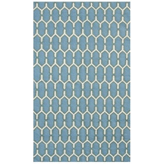 Sonora Sky Blue Flat-weave Rug (5' x 8')