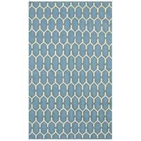 Sonora Sky Blue Flat-weave Rug - 5' x 8'