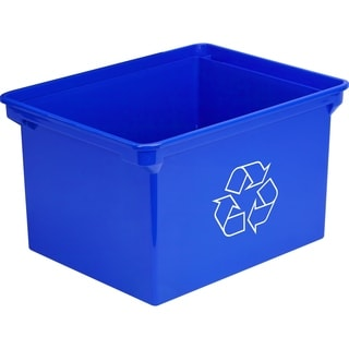 Storex XL Recycling Bin Blue 9 Gallon (35 Liter)