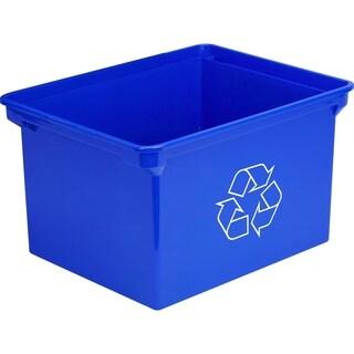 Storex XL Recycling Bin Blue 9 Gallon (35 Liter)