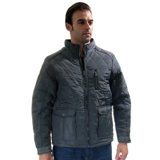 Men's Quilted Fur-Lined Zip Up Jacket