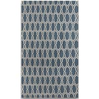 Sonora Blue Flat-weave Rug - 5' x 8'