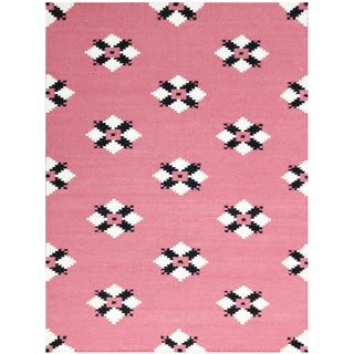 Sonora Pink Flat-weave Rug (5' x 8') (Option: Pink)