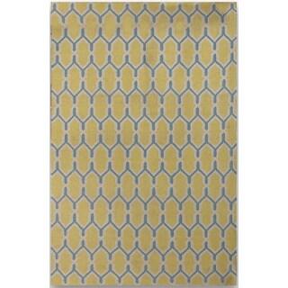 Sonora Yellow Flat-weave Rug (8' x 10')