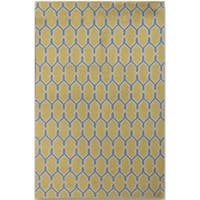 Sonora Yellow Flat-weave Rug (8' x 10') - 8' x 10'