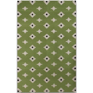 Sonora Green Flat-weave Rug (8' x 10')