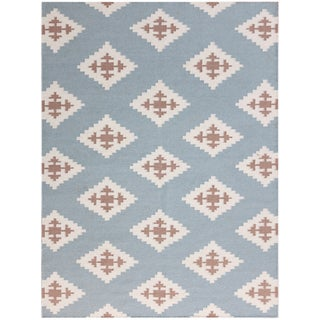 Sonora Blue Flat-weave Rug (8' x 10')